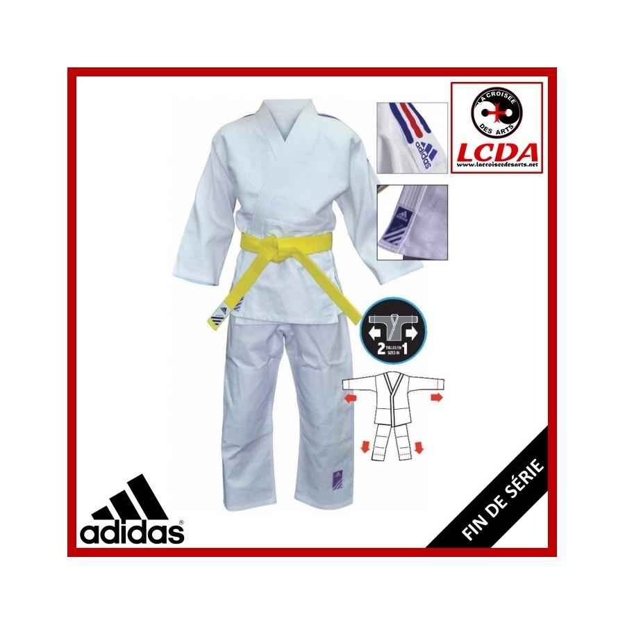 kimono judo adidas bande bleu blanc rouge